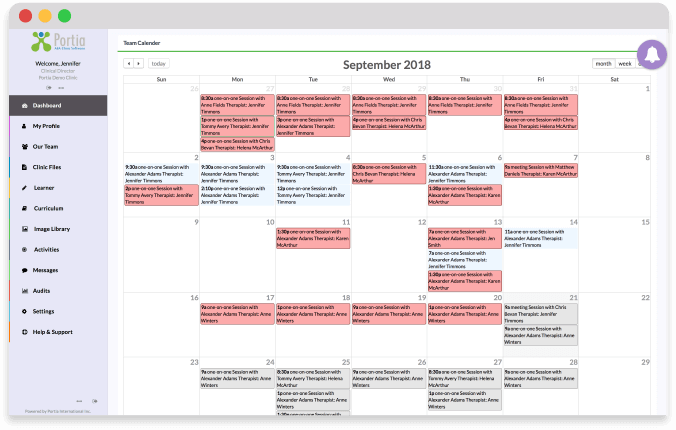 A screenshot of the scheduler
